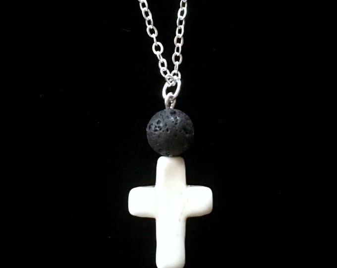Diffuser Necklace, Black Lava Rock Necklace, Aromatherapy Necklace, Essential Oils Necklace