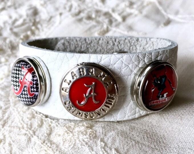 Alabama Snap Bracelet, Snap Buttons, Snap Charms Bracelet