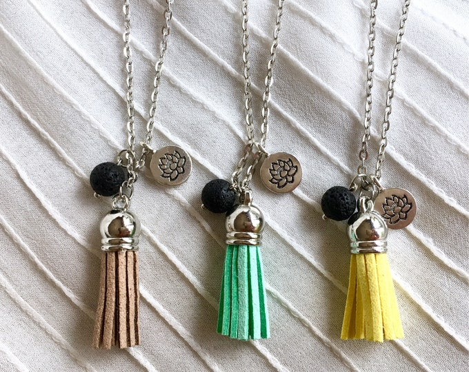 Diffuser Tassel Necklace, Aromatherapy Necklace, Essential Oils Necklace