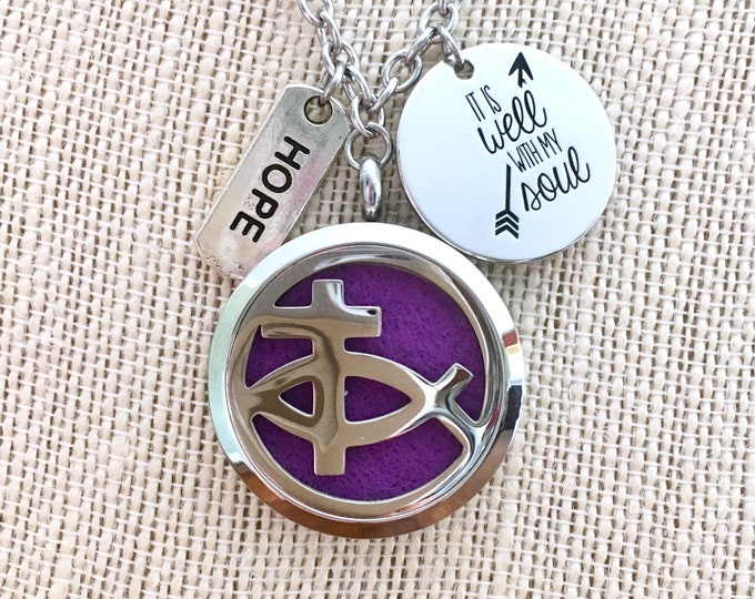 Essential Oils Locket, Aromatherapy Necklace, Diffuser Locket, Scent Necklace