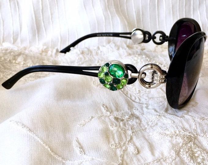 Snap Button Sunglasses, Ginger Snaps, Black Sunglasses, Noosa Snaps