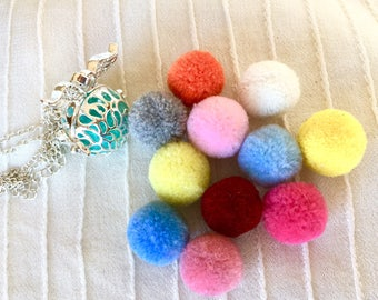 Felt Balls for Aromatherapy Locket, Replacement Pads for Cage Locket,   Essential Oils Pads, Diffuser Felt Balls