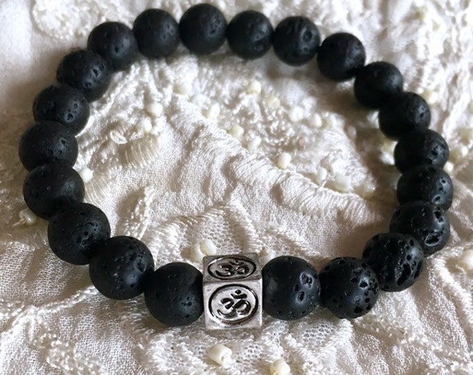 Diffuser Bracelet, Yoga Black Lava Stone Bracelet, Aromatherapy Bracelet, Essential Oils Diffuser Bracelet