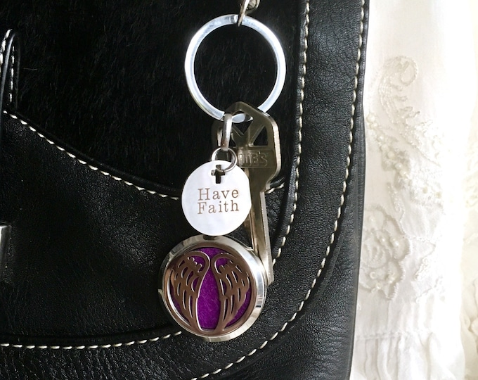 Essential Oils Diffuser Keychain, Football Aromatherapy Keychain, Purse Clip On, Diffuser Locket