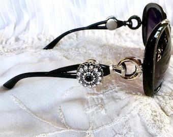 Snap Button Sunglasses , Snap Charms Sunglasses, Black Sunglasses