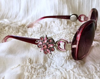 Snap Button Sunglasses, Snap Charms, Pink Sunglasses, Noosa Style Sunglasses