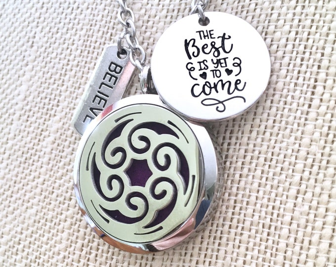 Aromatherapy Necklace, Diffuser Necklace, Essential Oils Locket