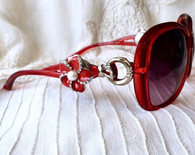 Red Sunglasses, Snap Button Sunglasses, Snap Charms Sunglasses, Tree of Life Snap