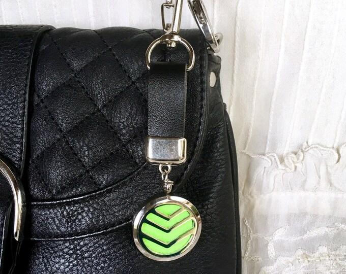 Aromatherapy Diffuser Keychain, Purse Diffuser Dangle, ID Badge Locket, Bag Chain Dangle