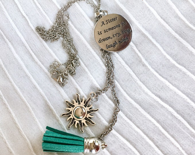 Aromatherapy Tassel Necklace, Sisters Necklace, Diffuser Necklace, Essential Oils Necklace