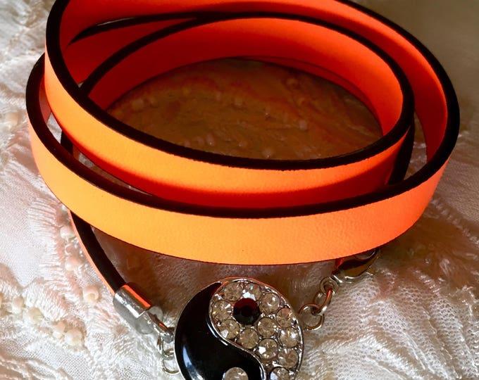 Snap Button Bracelet, Leather Bracelet, Charm Bracelet