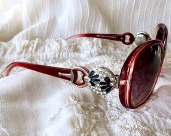 Snap Button Sunglasses, Red Sunglasses, Snap Charms