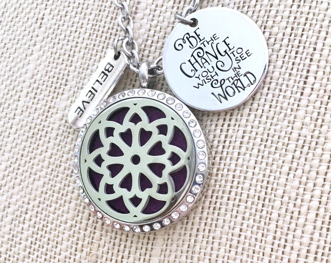 Diffuser Necklace, Aromatherapy Necklace, Essential Oil Locket