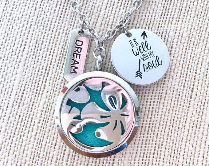 Aromatherapy Necklace, Essential Oils Diffuser Locket, Scent Necklace
