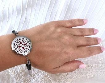 Aromatherapy Bracelet, Diffuser Locket Bracelet, Essential Oils Diffuser Locket