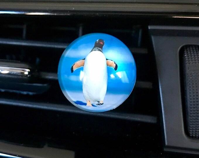 Penguin Aromatherapy Car Diffuser, Essential Oils Vent Clip,  Car Scent Locket