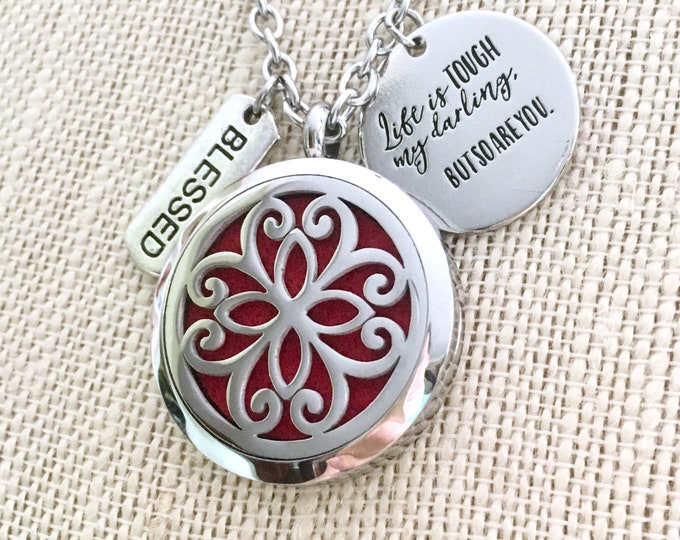 Essential Oils Necklace, Aromatherapy Locket, Diffuser Necklace, Scent Locket