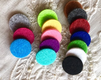 18mm Felt Refill Pad, Diffuser Refill Pads, Felt Pads for 25mm Locket, Replacement Wool Pads, Aromatherapy Felt Pads