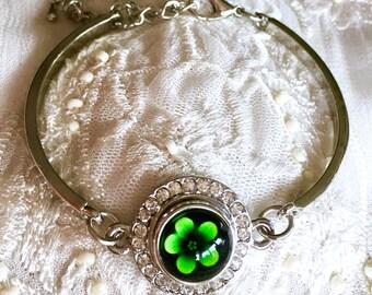 Snap Charm Silver Bracelet, Mini Noosa Style Bracelet, Ginger Snap, Petite Snap Button, Noosa Chunk, 12mm Snap Jewelry