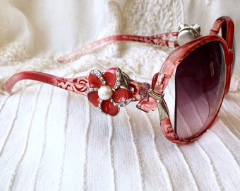 Snap Charms Sunglasses, Red Sunglasses, Snap Button