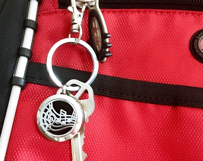 Keychain Diffuser Clip On, Essential Oils Purse Charm, Aromatherapy Locket Keychain, Bag Dangle