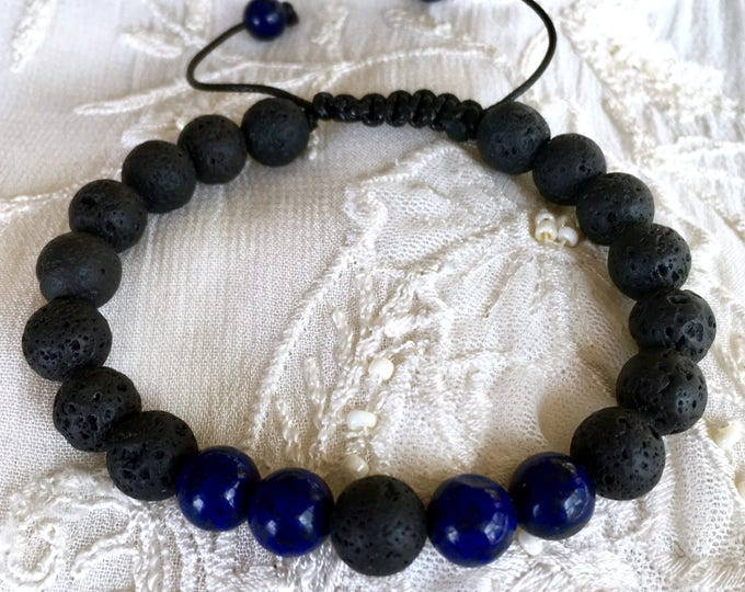 Diffuser Bracelet, Aromatherapy Bracelet, Lava Rock Beads, Essential Oils Bracelet