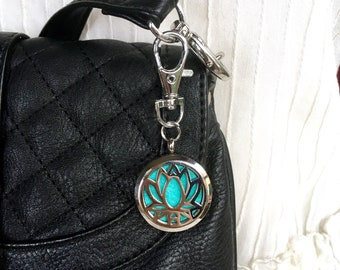 Purse Clip On Diffuser, Aromatherapy Locket, Keychain Clip On Locket, Zipper Charm, ID Badge Holder Charm