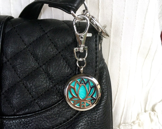 Purse Clip On Diffuser, Aromatherapy Locket, Keychain Clip On Locket, Zipper Charm, ID Badge Holder Charm