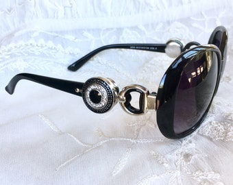Snap Button Sunglasses, Noosa Style Sunglasses,  Owl Snap Buttons