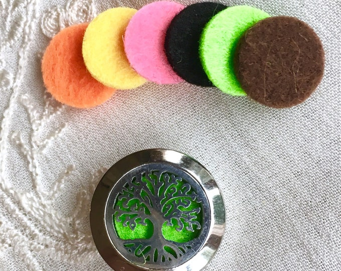 12mm Replacement Felt Pads for 20mm Aromatherapy Locket, Diffuser Locket Felt Pads, Essential Oils Diffuser Jewelry