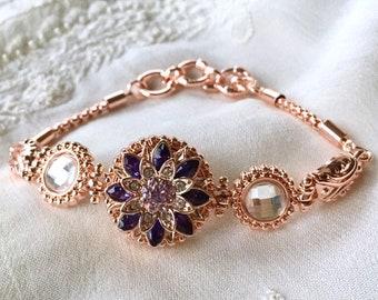 New! Snap Button Bracelet, Rose Gold Snap Charms, Charms Bracelet
