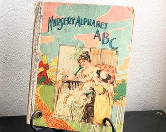 1900's Antique Children's Book Nursery Alphabet ABC M.A. Donohue  120 ABC Series