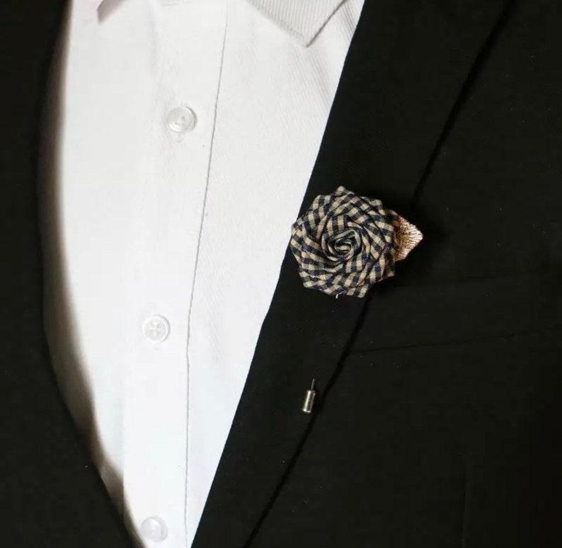 df57fcf68a4 Flower Lapel Pin Enamel Pin Accessories Brooch PinGroomsmen | Etsy