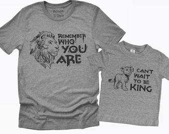 Disney Lion King Dad Simba And Mufasa Shirt Gift Idea For Men Women Hoodie Sweater Birthday Matching Family Cute Male Female