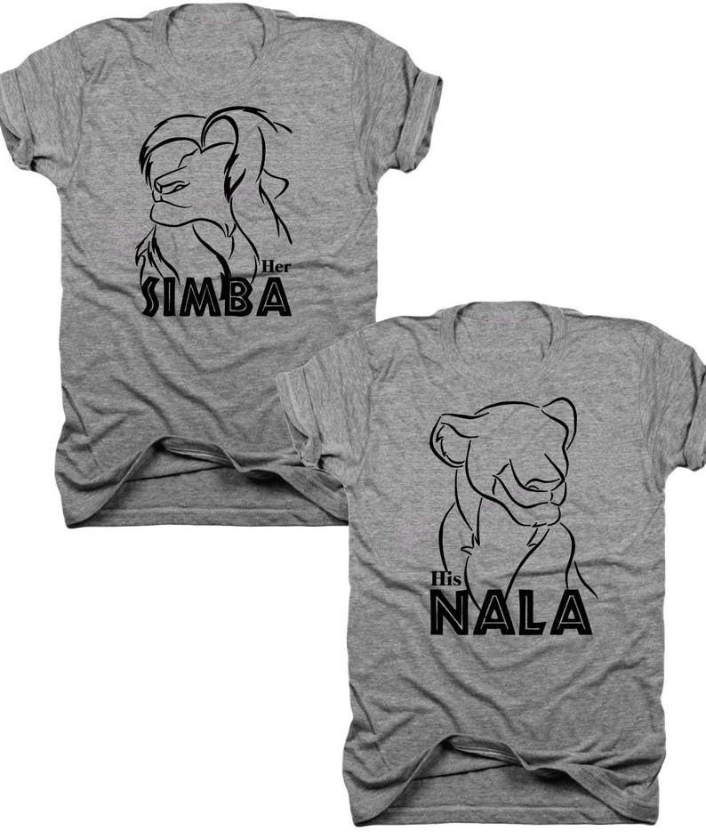 3a0c7763 Simba and nana Her Simba his Nala t-shirt set his and | Etsy