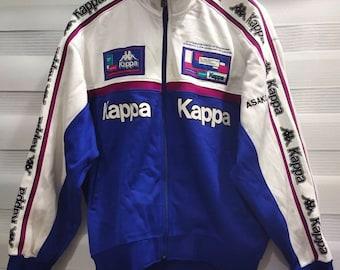 Vintage Kappa tracksuit top  Color block Kappa Sport Jacket  Black Kappa track top  Vintage Activewear  90s sport jacket  large