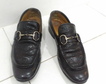 ebf83e01f77 Vintage Gucci loafers men black gucci shoes casual formal shoes size 8.5us