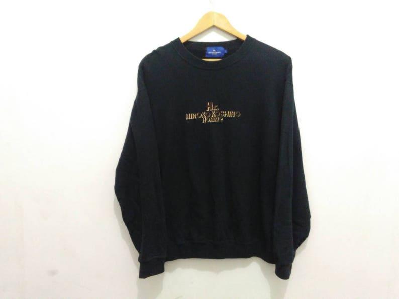 Zwarte Trui Mannen.Vintage Hiroko Koshino Homme Sweatshirt Zwarte Trui Mannen L Etsy