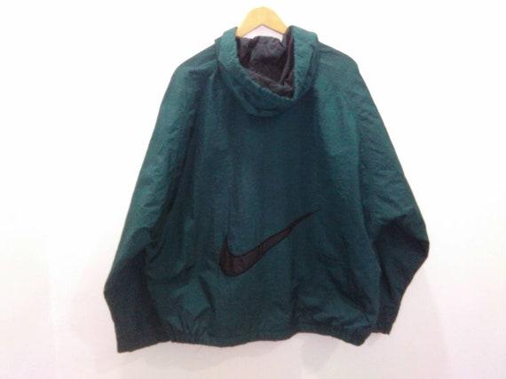 Vintage NIKE air windbreaker jacket coat hooded green large  c1e8eca17