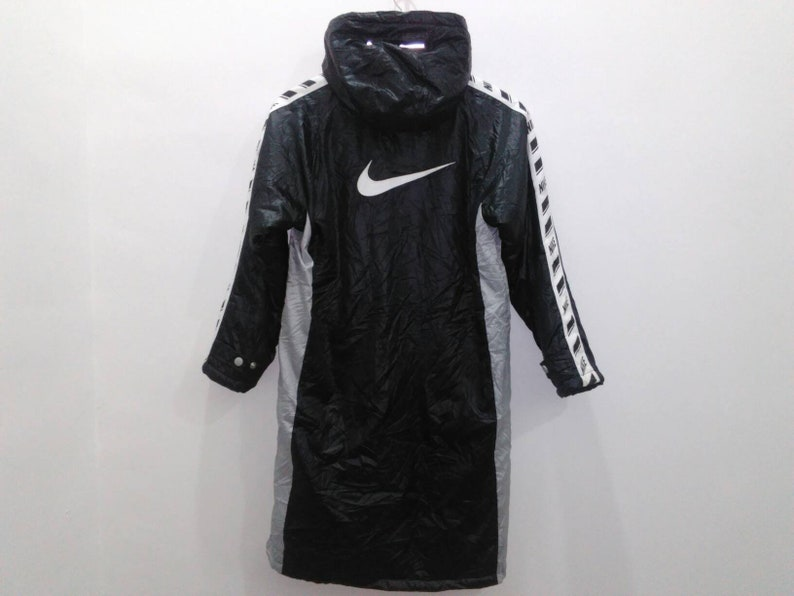 2d80ddf161 NIKE parka jacket coat mens small hooded black spellout jacket