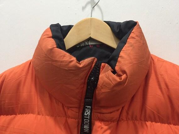Vintage premier Down USA veste réversible hommes M noir orange vers le bas Puffer veste des années 90 première doudoune manteau d'hiver