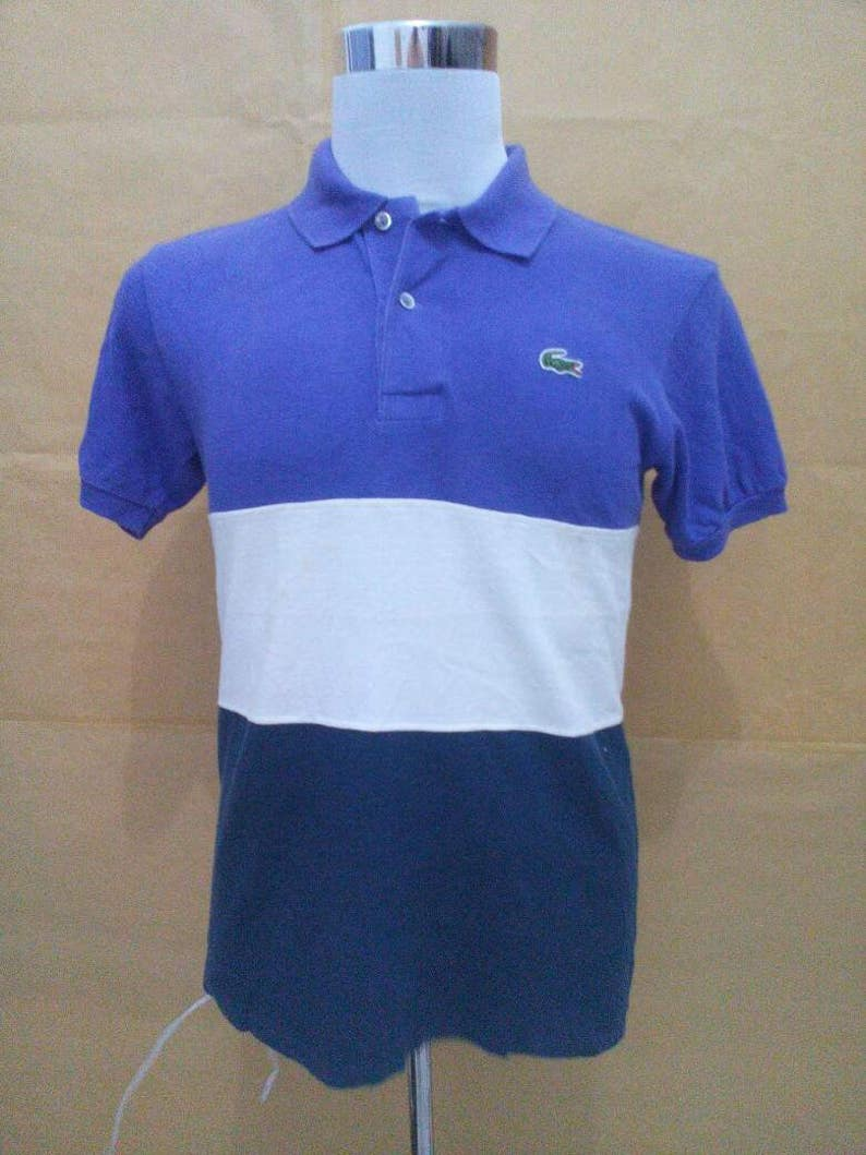 42f9a0680 Vtg Lacoste polo shirt chemise lacoste men M colorblock