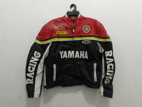 Blouson cuir yamaha racing