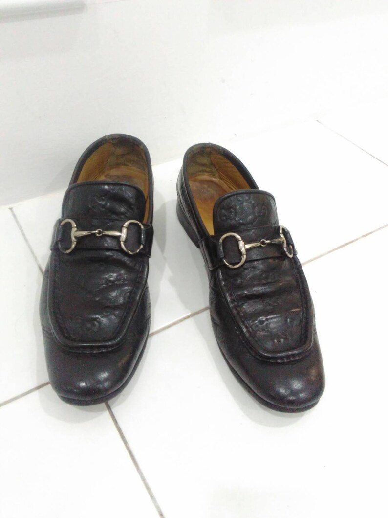 111e21feb23 Vintage Gucci loafers men black gucci shoes casual formal