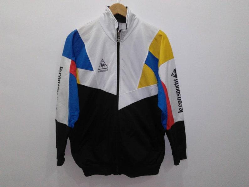 d33d289ff06 Vintage Le coq sportif track top jacket sweater mens medium | Etsy