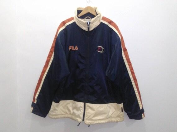 Vintage FILA windbreaker jacket men's XL fila colorblock multicolor padding quilted jacket