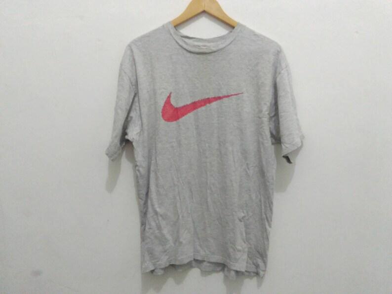 943a9e688a7da Vintage nike shirt men medium gray shirt nike swoosh tee big logo