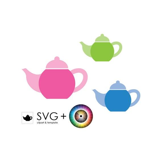 SVG Teapot Object Clipart Template Graphic Print Pot