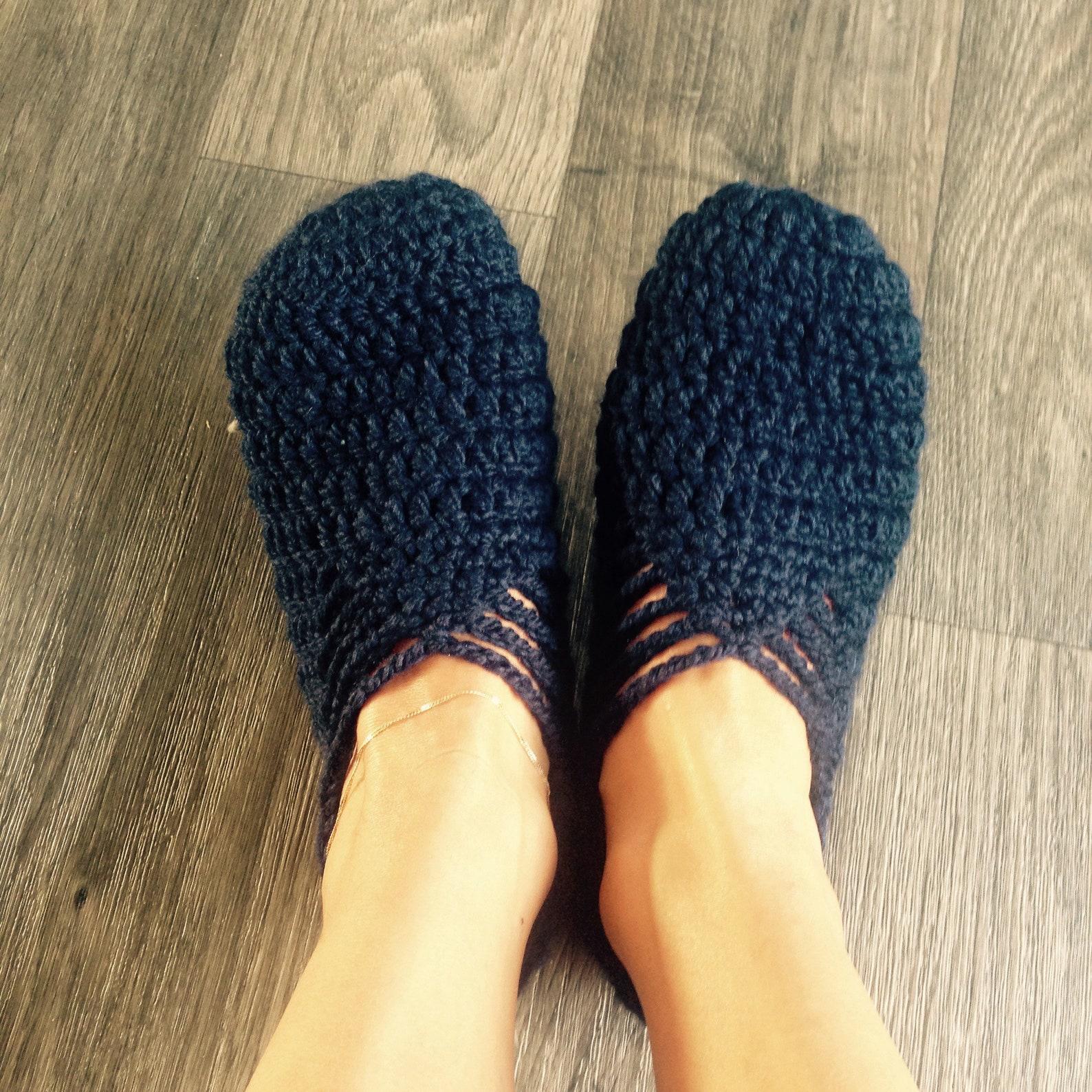 ballet style slippers made crochet