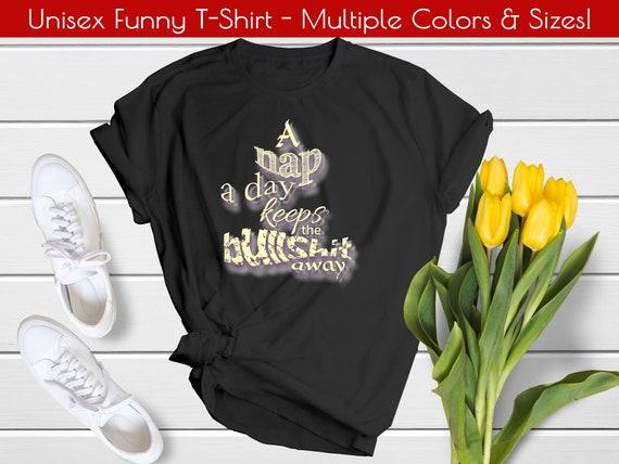Exhale Bullshit Women/'s Casual White V-Neck Shirt Funny Inhale Wisdom